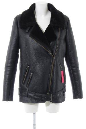 Minimum Winterjacke schwarz Street-Fashion-Look