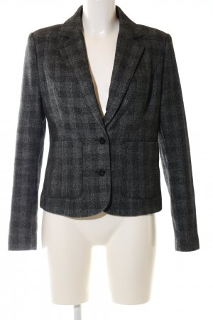 Minimum Woll-Blazer schwarz-hellgrau Karomuster Business-Look