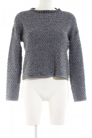 Minimum Cable Sweater light grey cable stitch casual look