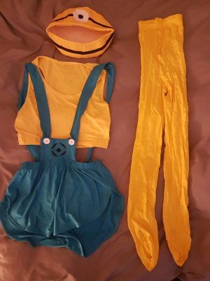 Ladies' Suit yellow-blue
