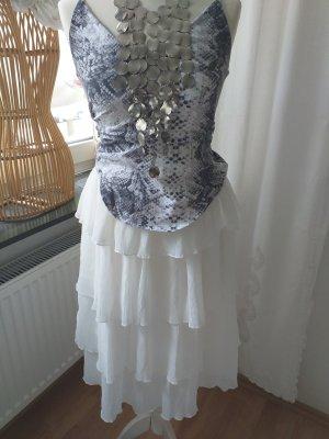 Asos White Crash Skirt white-cream polyester