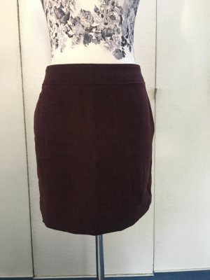 Hennes Collection by H&M Wool Skirt black-bordeaux mixture fibre