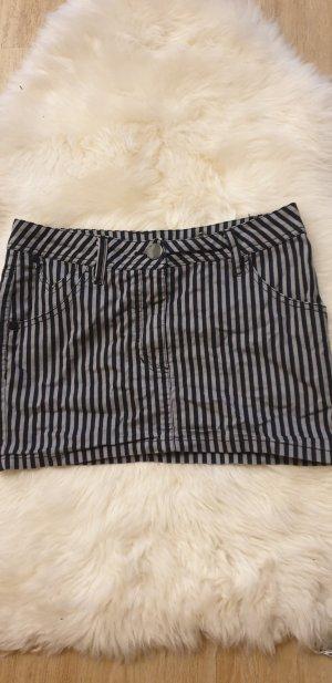 H&M Minifalda negro-gris