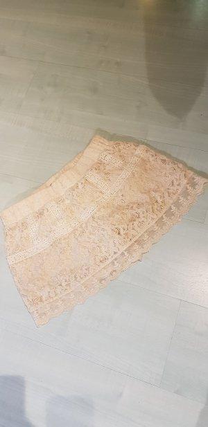 Primark Lace Skirt natural white-cream