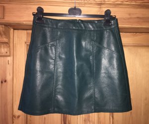 New Look Faux Leather Skirt dark green