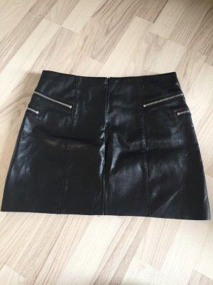 Pimkie Falda de cuero de imitación negro