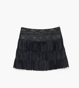 Patrizia Pepe Falda de cuero negro