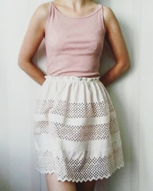 Lace Skirt natural white cotton