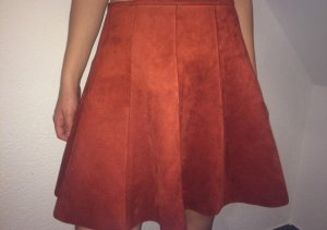 Amisu Circle Skirt dark orange-russet