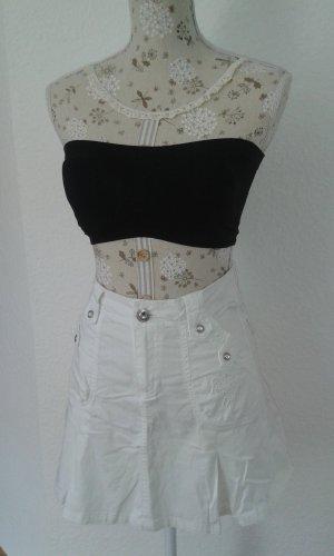 High Waist Skirt white cotton