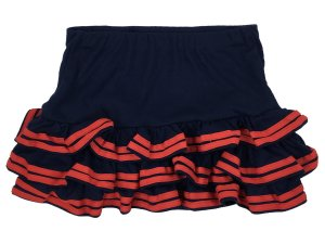 Stretch rok donkerblauw-rood Gemengd weefsel
