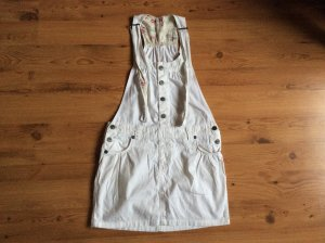 Pinafore Overall Skirt white cotton
