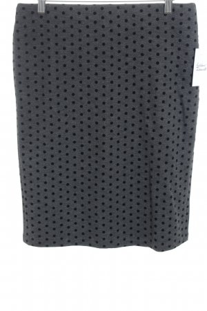 Minirock dunkelgrau-schwarz Punktemuster Business-Look