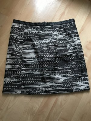 Minirock elegant, Muster schwarz-weiß, Webrick
