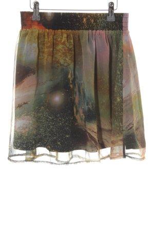 Mini-jupe motif tache de couleur style décontracté