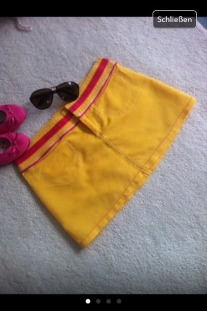 Minirock / gelb-pink / Gr. 36 S von der Firma ONLY/ Neu
