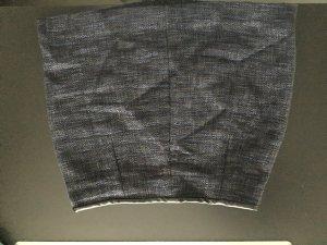 Minirock gewebt in schwarz-blau