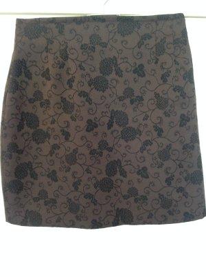 Minirock, glänzend, braun, Gr. 38