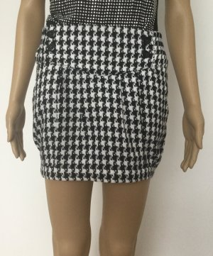 Amisu Mini rok wit-zwart Polyester