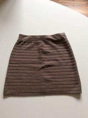 Minirock grau-braun Promod Größe S Streifenlook