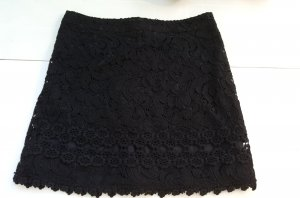 Minirock Häckelsaum schwarz