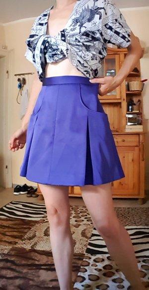 Minirock high waist, Faltenrock, blau lila, kawaii, lolita, Schulmädchen