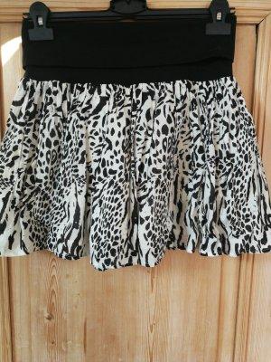 H&M Divided Circle Skirt black-natural white