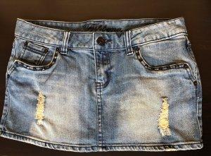 Fishbone Denim Skirt blue-dark blue