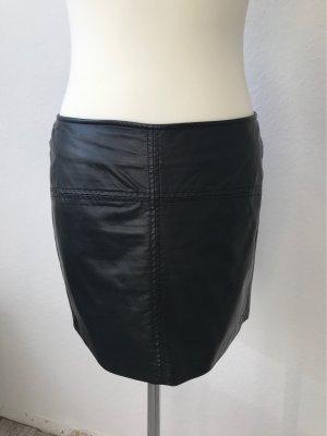 Tom Tailor Denim Falda de cuero de imitación negro Viscosa