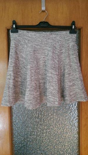 H&M Jupe évasée gris clair coton