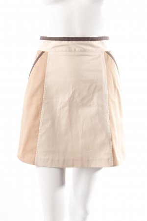 Mini-jupe beige-gris brun