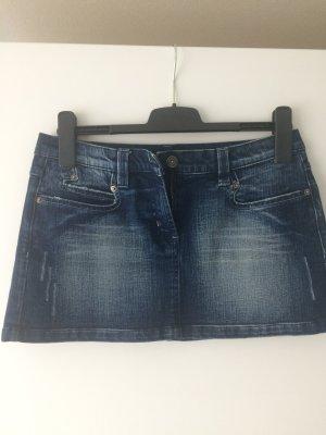 Minirock Jeans im Used Look Denim