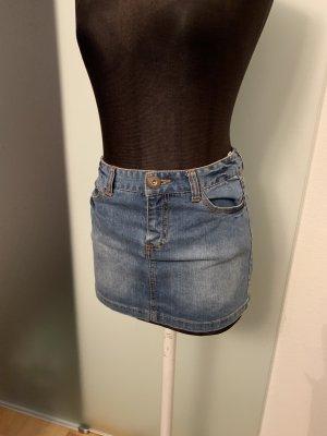 Minirock Jeans Rock Gr 34 XS