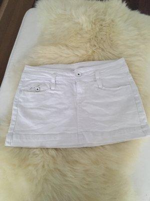 Minirock Jeans Weiß Mango