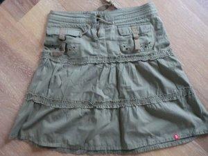 Minirock Khakit mit interessanten Taschendetails (Esprit)