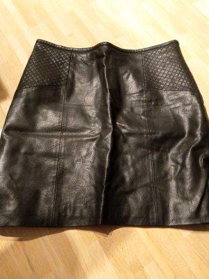 Yessica Leren rok zwart