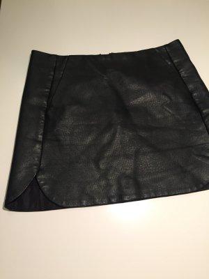Topshop Jupe en cuir noir