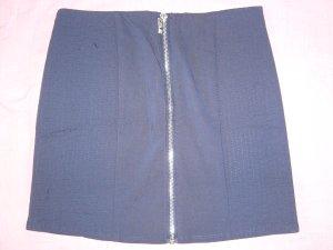 Minirock marineblau silberner Reißverschluss vorne H&M XS 34