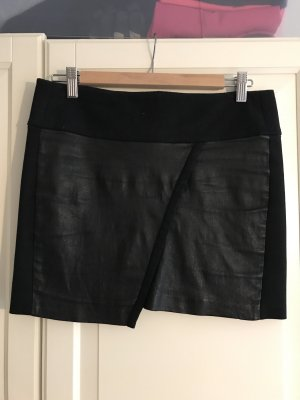 Iro Falda de cuero negro