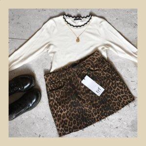 Minirock mit Leopardenprint von Zara