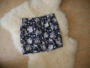 Minirock mit Reißverschluss und Blumenmuster