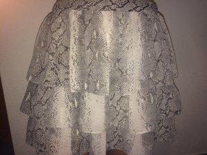 H&M Falda circular color plata