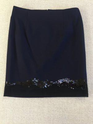 Minirock Nachtblau mit Pailletten Patrizia Pepe 34 neu!