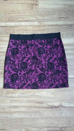 Minirock Partyrock lila schwarz