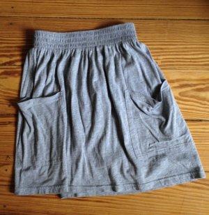 Minirock Rock Baumwolle American Apparel grau Skater Skirt S