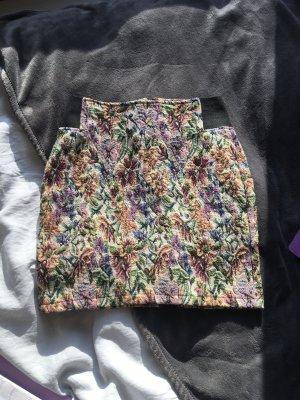 Minirock Rock mit Blumenmuster Vintage Style Retro boho Blumen  bunt Muster bleistiftrock high waist eng