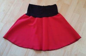 Minirock Rot Schwarz Gr. 40 #308
