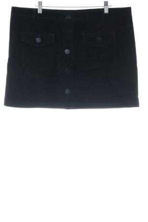 Minirock schwarz bezogene Knöpfe