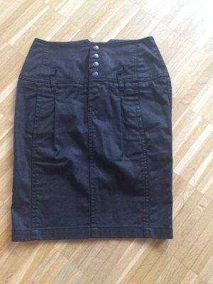 Minirock schwarz High Waist Gr 25 Diesel Blackgold