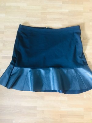 Blue Motion Flared Skirt black